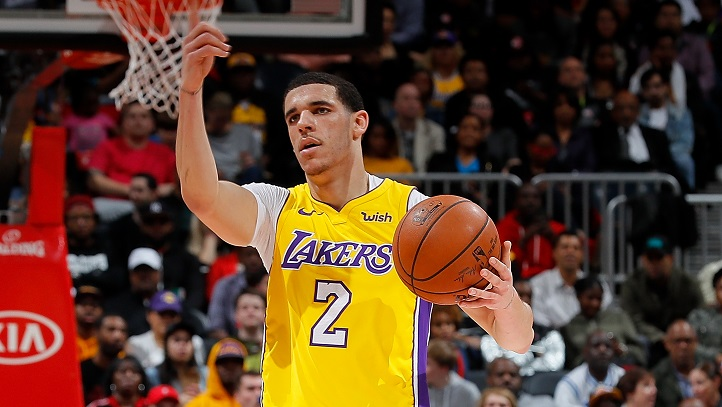 Lonzo Ball Lakers at Pistons
