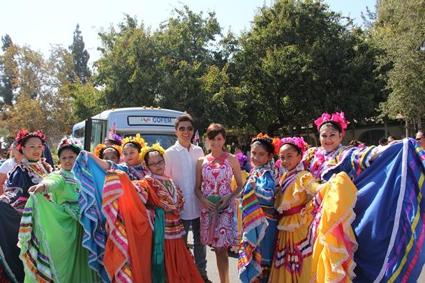 NBC4's Mario Solis & Kathy Vara at East L.A. Mexican Independence Day Parade 2013