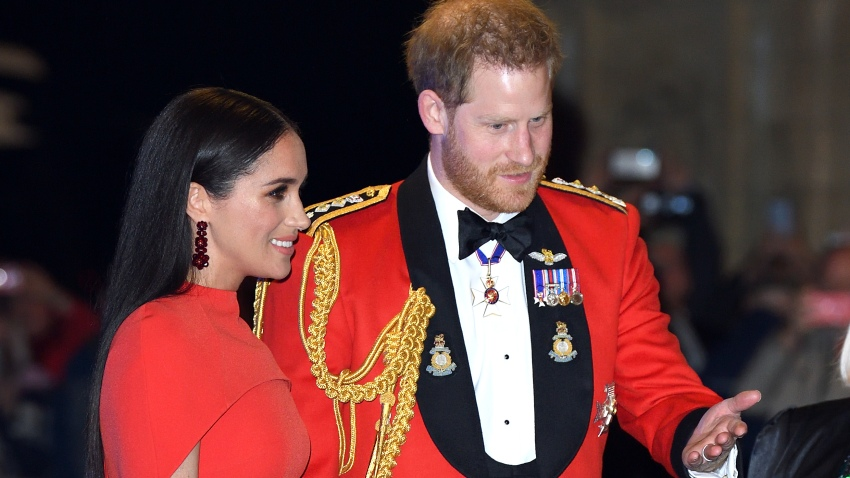 In this March 7, 2020, file photo, Prince Harry, Duke of Sussex, and Meghan, Duchess of Sussex, attend the Mountbatten Festival of Music at Royal Albert Hall in London, England.