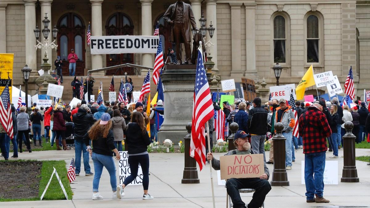 Michigan Militia Puts Armed Protest in the Spotlight 1