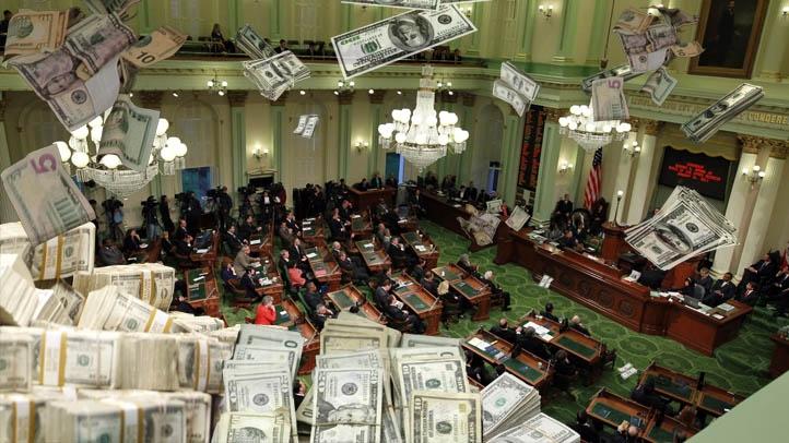 Money Falling on Legislature