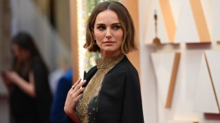 Natalie Portman arrives for the 92nd Oscars at the Dolby Theatre.