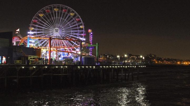 Pacific Park on the Santa Monica Pier - Earth Hour Photo