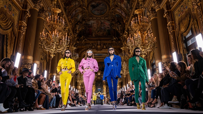 In this Sept. 27, 2019, file photo, models walk the runway during the Balmain Womenswear Spring/Summer 2020 show as part of Paris Fashion Week in Paris, France.