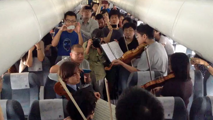 Philadelphia Orchestra China Airplance Performance