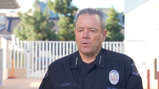 LAPD Chief Michel Moore in NBCLA interview