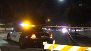 poloice car and police tape at crime scene