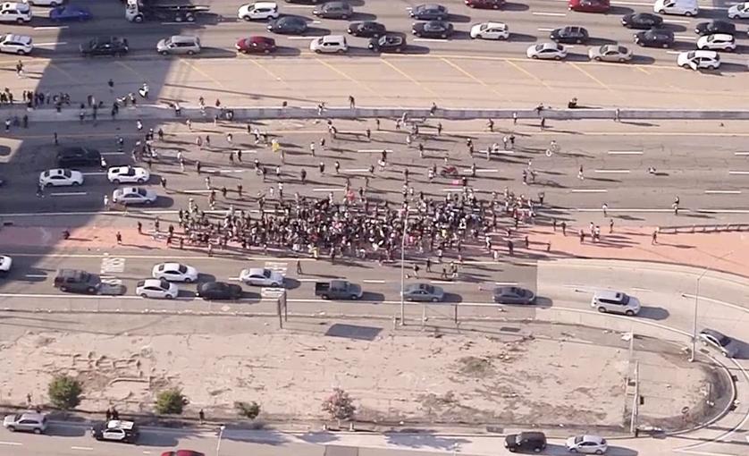 Live: Protesters Shut Down LA Freeway Over George Floyd's Death