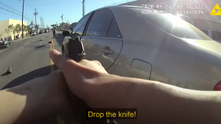 Still image from LAPD body worn video