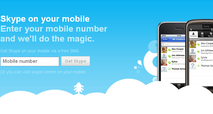 Skype on your mobile device