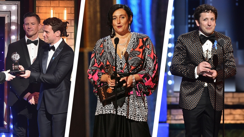 TRIO - Katrina Lindsay - Bradley King - Nigel Hook Tony Awards 2017