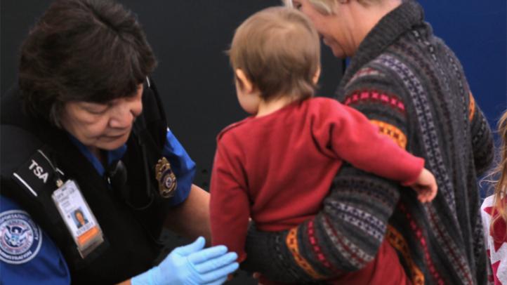 TSA screens child