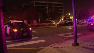 San Diego Police blocked off streets near their headquarters