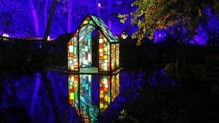 Tom Fruin installationcopyright Descanso Gardens