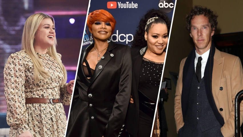 Kelly Clarkson (left), Salt-N-Pepa (middle) and Benedict Cumberbatch (right).