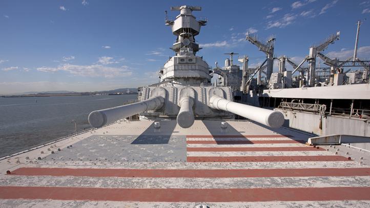 USS Iowa guns