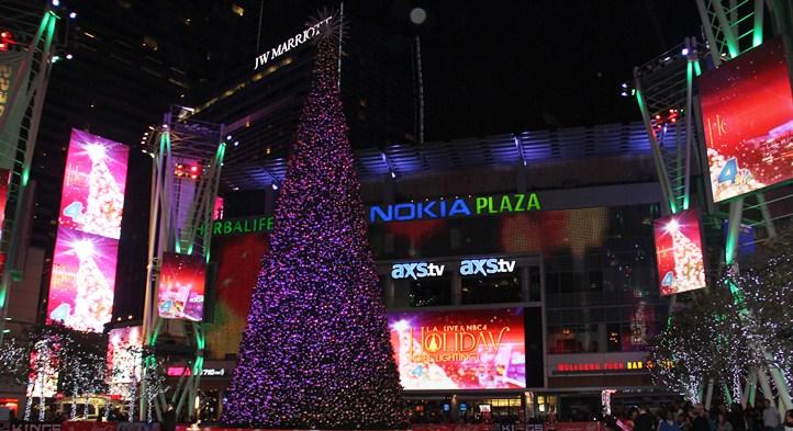 LA Live Tree Lighting