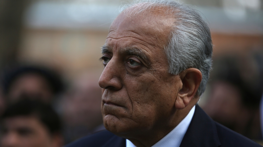 Washington's peace envoy Zalmay Khalilzad attends the inauguration ceremony for Afghan President Ashraf Ghani at the presidential palace in Kabul, Afghanistan, Monday, March 9, 2020.