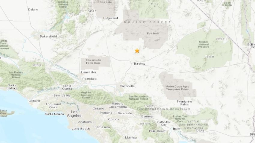 4.6 Magnitude Earthquake Reported in Barstow