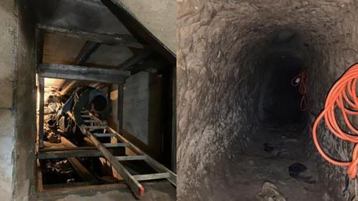 A drug tunnel on the California and Mexico border near San Diego