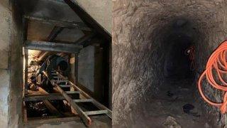 A drug tunnel on the California and Mexico border near San Diego