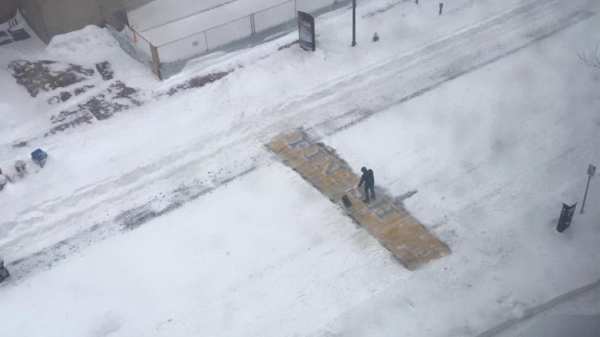 boston marathon finish snow photo1