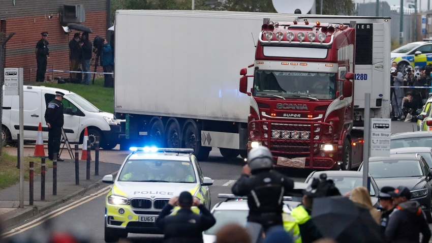 APTOPIX Britain Truck Bodies Found