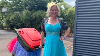 Danielle Askew, 47, says she has a backlog of 18,000 submissions from people who are dressing up to take out the trash.