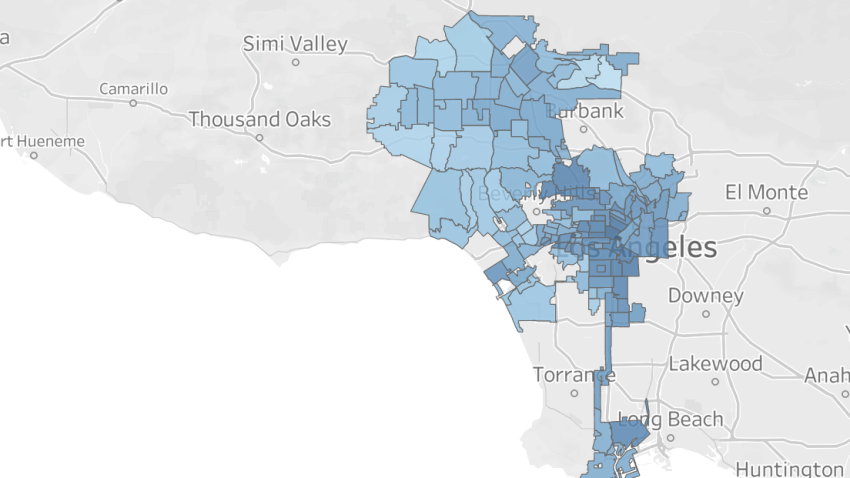Map Covid 19 Job Losses In Los Angeles Nbc Los Angeles