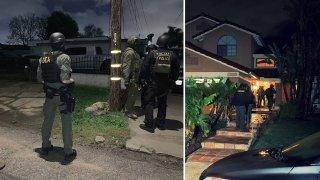 DEA agents raid homes