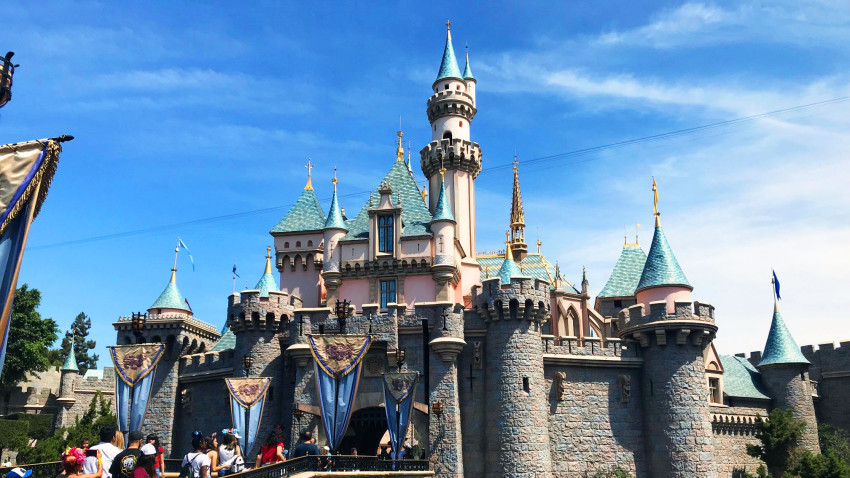 Disneyland castle pictured
