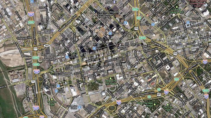 downtown-dallas-googlemap