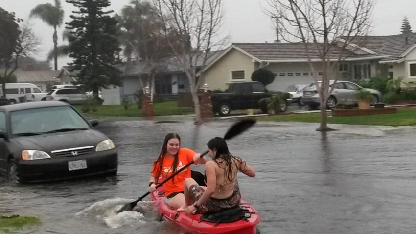 Kayaking in the Street