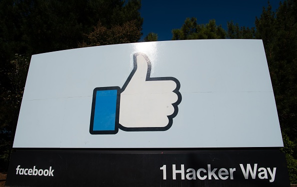 "The Facebook ""like"" sign is seen at Facebook's corporate headquarters campus"