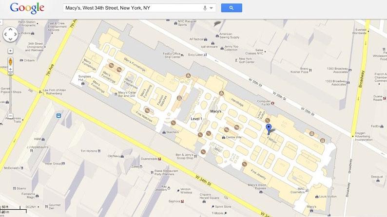 google shopping map