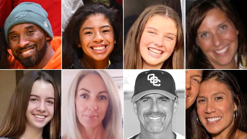 Pictures: These are the Victims in the Kobe Bryant Helicopter Crash