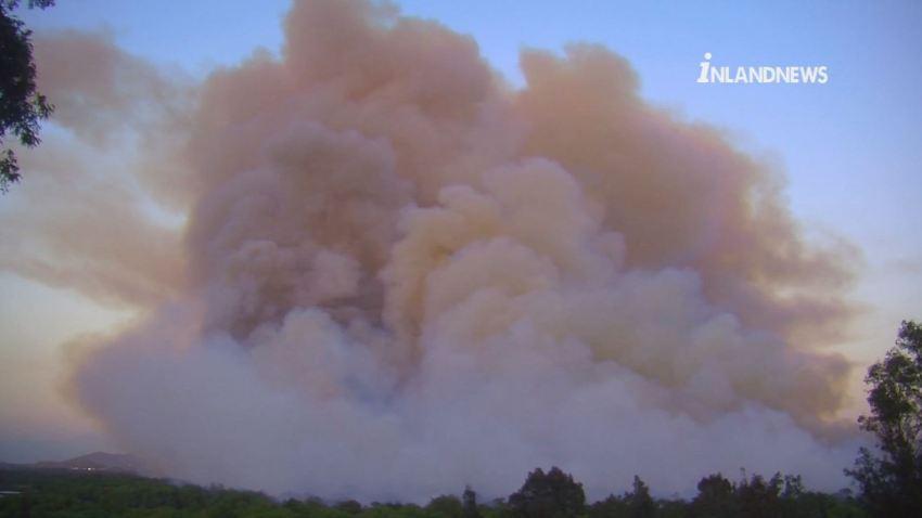 inland empire brush fire smoke