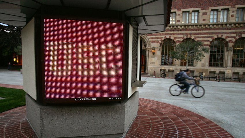 The USC campus is pictured.