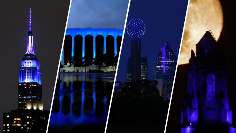 #LightItBlue: Landmarks Lit in Support of Essential Workers During Coronavirus Pandemic