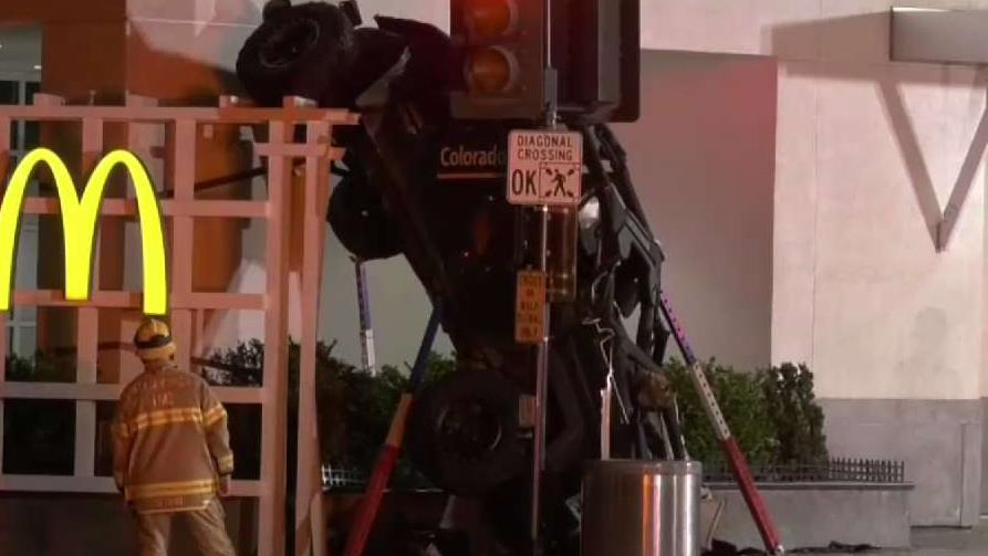 Jeep Drives Off Top Of Six-Story Santa Monica Parking Structure
