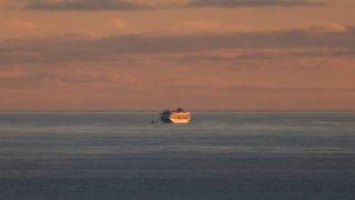 Crucero Grand Princess permanece anclado a millas de la costa de San Francisco luego de que varios pasajeros dieran positivo al coronavirus.