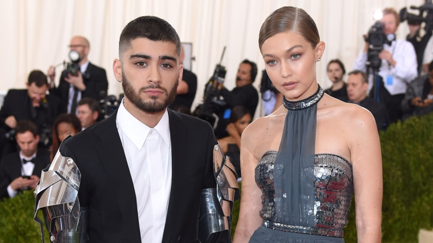 """In this May 2, 2016, file photo, Gigi Hadid and Zayn Malik arrive for the """"Manus x Machina: Fashion In An Age Of Technology"""" Costume Institute Gala at Metropolitan Museum of Art in New York City."""