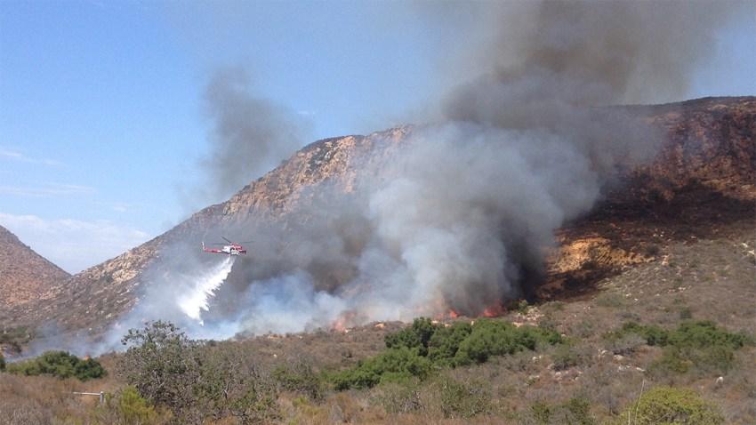 mission trails park fire