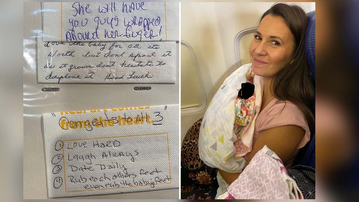 Couple Flying Home With Their Adopted Girl Receives a Heartwarming Impromptu In-Flight Baby Shower