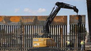 Muro fronterizo en Texas