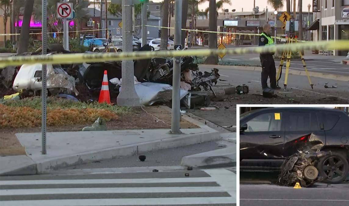 Mercedes Benz Newport Beach >> One Killed in High-Speed Mercedes-Benz Crash That Hurled ...