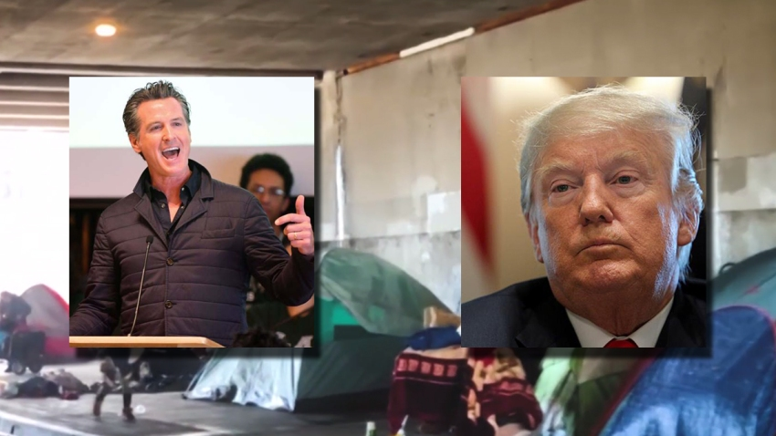newsom blames trump homelessness aid 120419