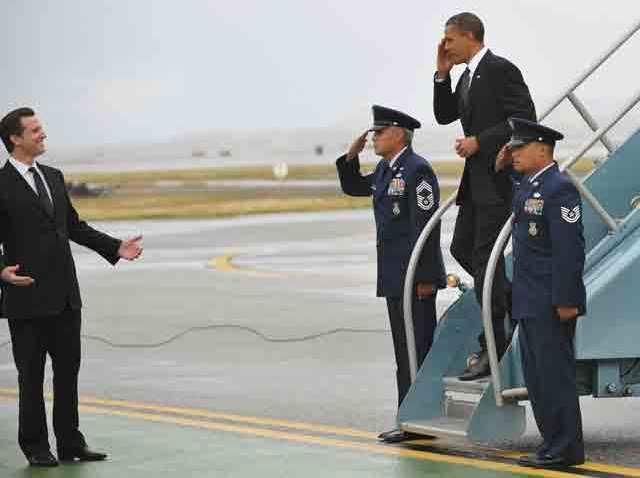 Gavin Newsom welcome Barack Obama