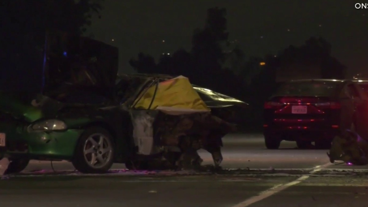 Honda North Hollywood >> One Person Killed In Fiery Three-Vehicle Crash On Freeway ...
