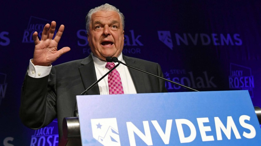 Nevada Governor Steve Sisolak Tests Positive For Covid 19 Nbc Los Angeles